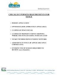 Https Www Cutlerbay Fl Gov Sites Default Files Fileattachments Building Division Page 4671 Fence Permit Checklist Pdf