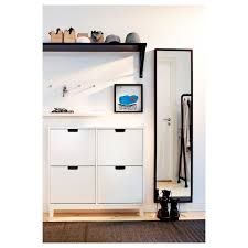 Stall Shoe Cabinet With 4 Compartments White 37 3 4x35 3 8 Ikea