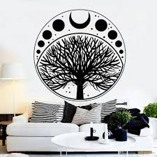 Moon Phases Cycle Tree Of Life Symbol Sticker Vinyl Wall Decal Art Home Decor Wallpaper Bedroom Wall Decoration Removable Mural Stickers Mural Stickers For Walls From Onlinegame 12 66 Dhgate Com