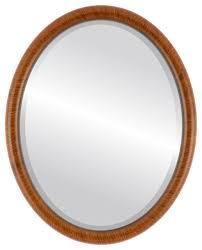 pasadena framed oval mirror in vintage