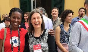 File:Wikimania 2016 Sandra Becker & Mpoh Sello.jpg - Wikimedia Commons