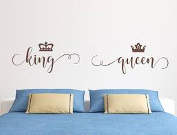 King And Queen Wall Decals Headboard Decal King Decal Queen Decal Romantic Wall Art Master Bedroom In 2020 Headboard Decal Headboard Wall Decal Romantic Wall Art