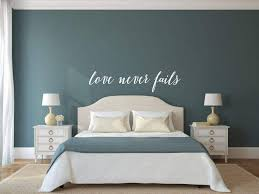 Love Never Fails Vinyl Decal Wall Art Decor Sticker Home Decor Bed Airetgraphics