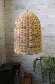 bell rattan pendant light wicker