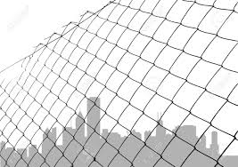 Chain Link Fence With City Silhouette Royalty Free Cliparts Vectors And Stock Illustration Image 8764892