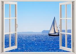 Sailboat Wall Decal Boat 3d Window Boat Wall Decal For Home Etsy