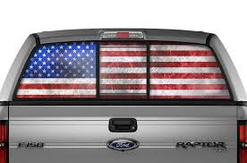 Ford F150 Rear Window Decals American Flag Racerx Customs Truck Graphics Grilles And Accessories