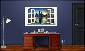 Amazon Com 48 Window Scape Instant View City Of Boston At Sunset 1 Huge Wall Graphic Sticker Decal Mural Home Kids Game Room Office Art Decor Home Kitchen