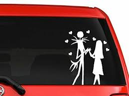 Jack And Sally Skellington Nightmare Before Christmas Car Decal Sticker 6 White Ebay