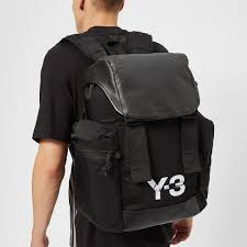 y 3 synthetic mobility bag in black for