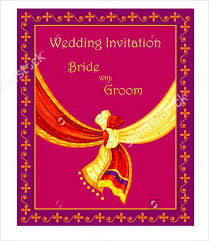 top for indian wedding invitation psd