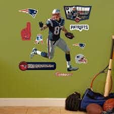 New England Patriots Rob Gronkowski Wall Decals By Fathead Jr