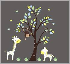 Yellow Jungle Wall Decals Safari Nursery Decals Yellow Baby Life Nurserydecals4you