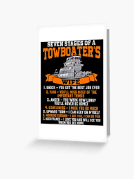 Funny Towboater S Wife Gift Valentines Day Gifts Seven Stages Of A Wife Spouse Greeting Card By Kntranhoang Redbubble