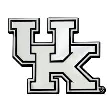 Set Of 2 Ncaa University Of Kentucky Wildcats Chrome Emblem Automotive Stick On Car Decal Christmas Central