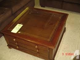 large display glass top coffee table w