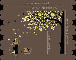 Nursery Wall Tree Decal Raccoon Corner Tree Mural Vinyl Sticker Kr032 Studioquee On Artfire