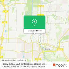 how to get to cascade glass art center
