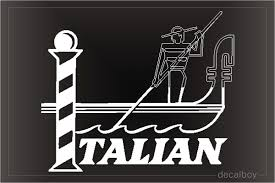 Italian Decals Stickers Decalboy