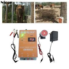 Solar Electric Fence For Animals Fence Energizer Charger High Voltage Pulse Controller Poultry Farm Electric Fence Insulators Fencing Trellis Gates Aliexpress
