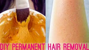 diy hair removal mask at home face