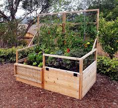 Garden Trellis Raised Gardening Bed 6 X3 Trellis Lid Option Kit Olt Cedar Raised Garden Beds Backyard Vegetable Gardens Cedar Raised Garden