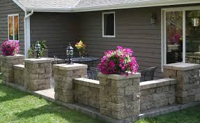 backyard patio with wall