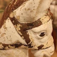 french concrete donkey planter circa