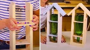 How To Make A Wine Bottle And Pine Bird Feeder