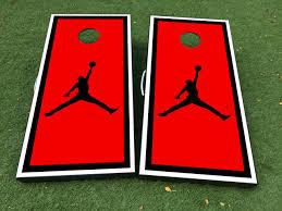 Product Nba Fly Jordan Logo Cornhole Board Game Decal Vinyl Wraps With Laminated