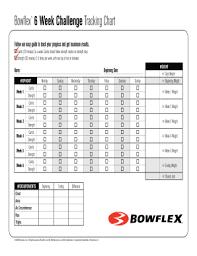 bowflex 6 week challenge workout