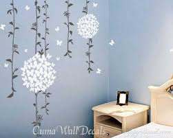 Beautiful Vines With Butterflies Flowers Vinyl Wall Decals