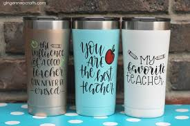 Ginger Snap Crafts Teacher Tumblers With Cricut Tutorial Giveaway