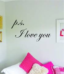 Ps I Love You Decal Sticker Wall Vinyl Art Wall Bedroom Room Home Deco Boop Decals