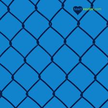 Chain Link Fence Vector I Heart Vector