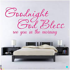 Buy Destudio Goodnight God Bless Wall Decal Size Small Amp Color Pink Features Price Reviews Online In India Justdial