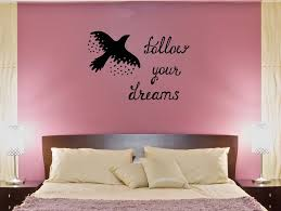 Wall Decal Bird Quote Flight Follow Your Dreams Stars Vinyl Sticker E Wallstickers4you