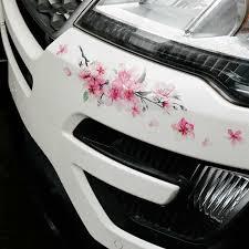 Pink Cherry Blossom Vinyl Car Sticker Auto Flower Decal Windshield Window Bumper Ebay