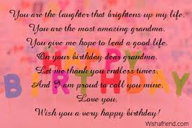 grandmother birthday poems