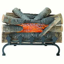 electric fireplace logs fake wood