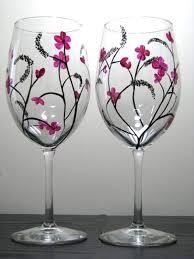 handpainted wine glasses wine glass