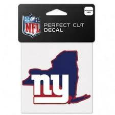 New York Giants State Shape 4 X4 Car Decal New Ny Nfl Sticker Emblem Ebay
