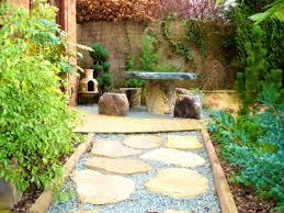 zen garden patio pond bamboo decoration