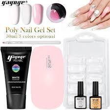 yayoge poly gel nail kit with l uv