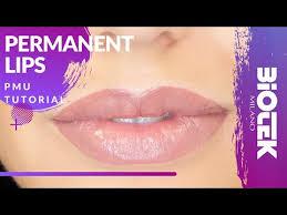 natural lips permanent make up tutorial