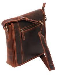 vintage brown 9x10 side satchel purse