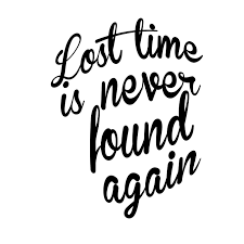 Lost Time Is Never Found Again Wall Decal Benjamin Franklin Quote Sticker For Walls Windows Laptops Etc