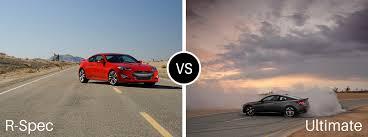 2016 hyundai genesis coupe r spec vs