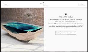 abyss table evokes ocean depths
