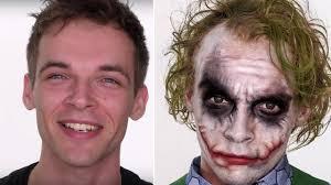 the joker heath ledger makeup tutorial